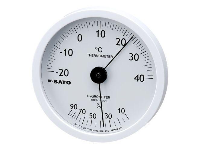 ホワイティ温湿度計