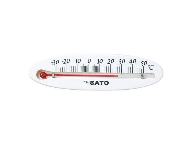 冷蔵庫用温度計ミニ 横型