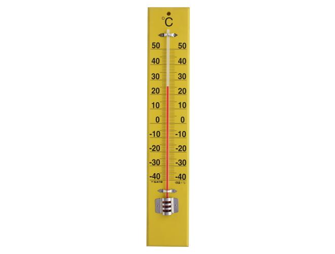 大型木製寒暖計