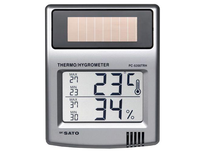 ソーラーデジタル温湿度計