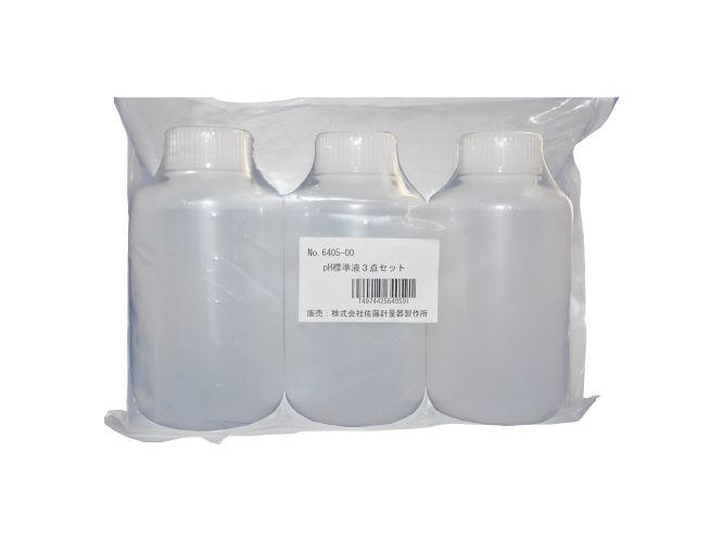 pH標準液3点セット(500ml各1本)